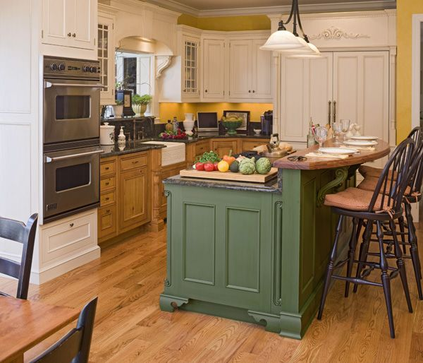 Two Tone Cabinets In Small Kitchen: Two Tone Kitchen Cabinets. Interesting And Different