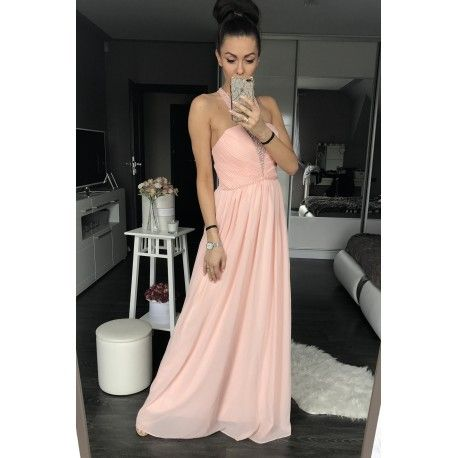 Długa, rozkloszowana suknia damska.  Idealna na bal maturalny i gimnazjalny.  #sukienkanawesele #sukienka #sukienkanastudniówkę #dress #dresforstudentparty #studentparty #womenfashion #longdress #pink #beauty #girl #polishgirl #polish #polishwoman #polishshop #bonays.pl