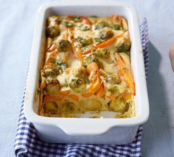 So mag jeder Rosenkohl, denn Oregano im Pfannkuchenteig macht den Auflauf wunderbar aromatisch.