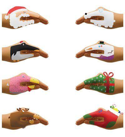 Bonecos na mão. hand puppets