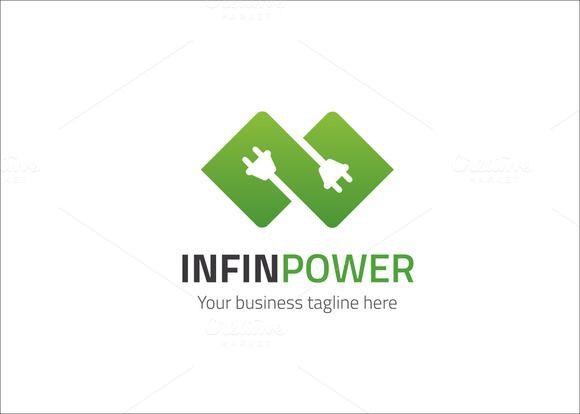Infinity Power Logo Creativework247 Logo Design Logo border=