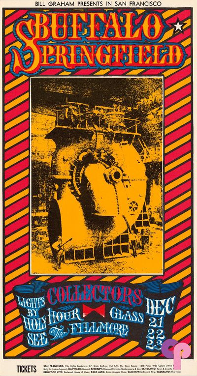 Classic Poster - Buffalo Springfield at Fillmore Auditorium 12/21-23/67 by Stanley Mouse & Alton Kelley