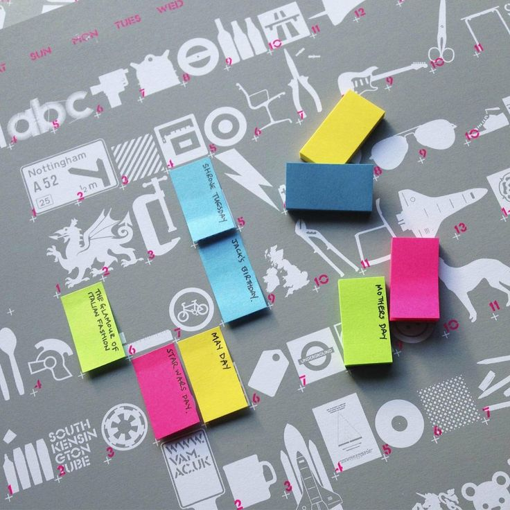 V&A The Blam Wall Planner 2014||EVAEX : All