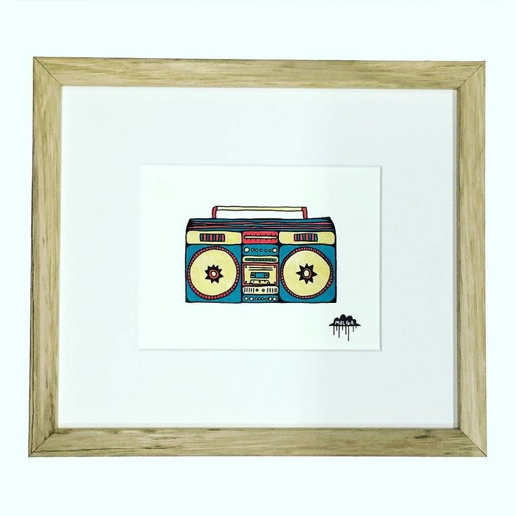 Happy Friday everyone! It's Boom Box Bobby the original painting of Boom Box Bobby is available on my website.  Boom box Bobby loves to party extra hard on long weekends. He always flicks his extra bass button on on the Queens birthday long weekend. One time he was cranking it so hard all the cups on the bench vibrated so much from his bass that they fell on the floor and broke like Humpty Dumpty. The Queens men couldn't even put them back together so we chucked them in the bin.  The End