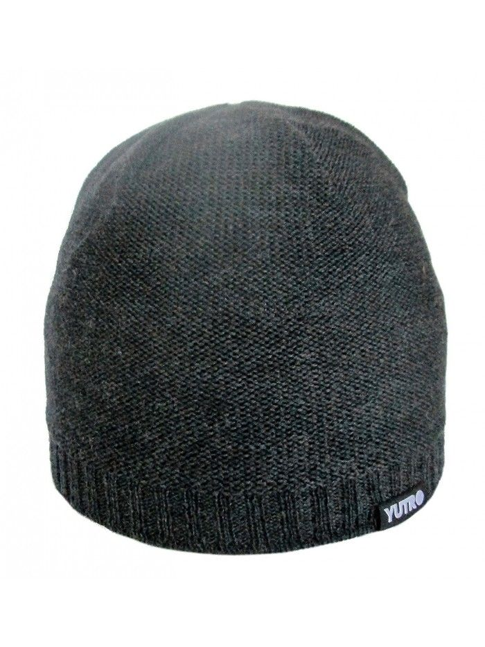60ba7f07be4 Classic Winter 100 % Merino Wool Beanie Hat for Men - Charcoal ...