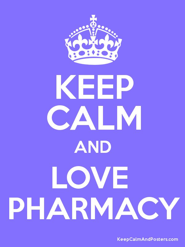 Keep Calm and LOVE  PHARMACY Poster