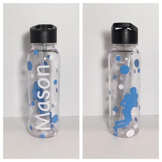 Personalized Football Water Bottles Team by AtoZVinylCreations