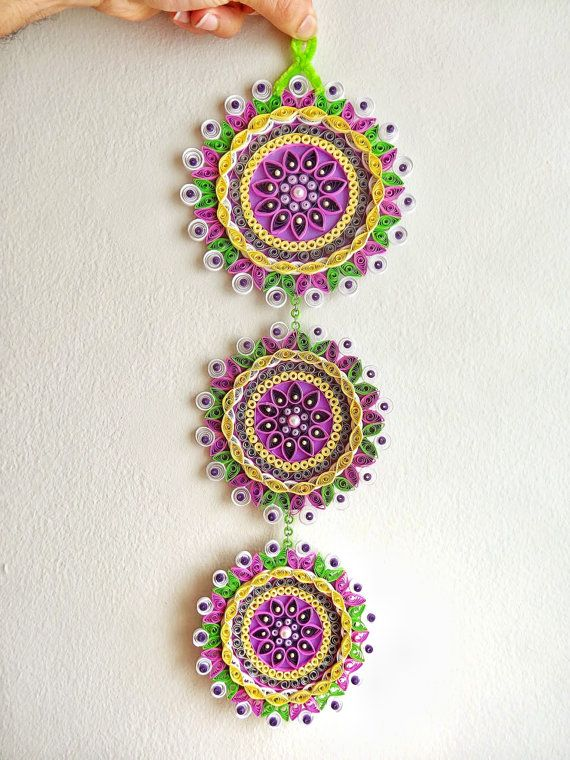 Purple themed Floral Paper Quilled Wall https://www.etsy.com/ru/listing/181538179/purple-themed-floral-paper-quilled-wall?ref=listing-shop-header-3hanging,decoration,art,decal for home decor