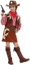 Children's Cowgirl Costume Medium 8-10 yrs 140cm for Wild West Fancy Dress