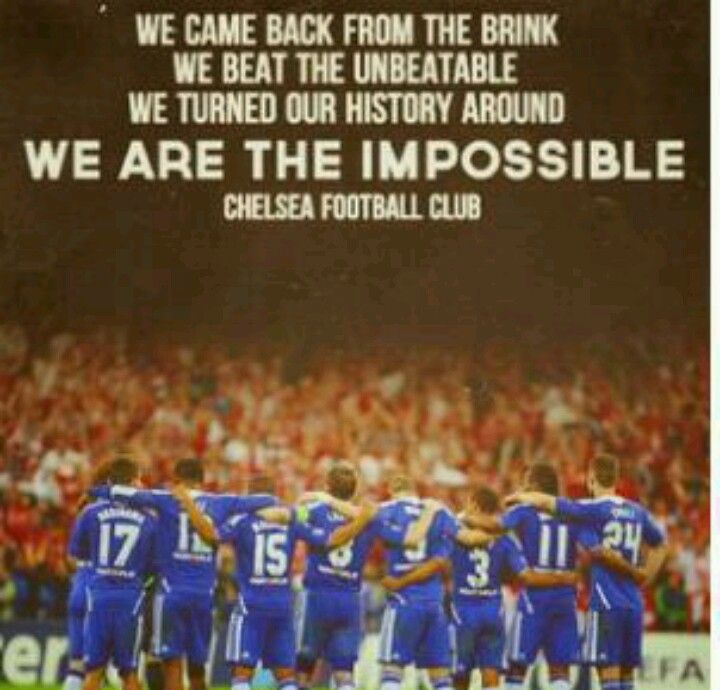 Chelsea Football Club making history not re-living it.