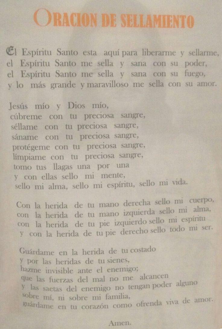 ORACION SELLAMIENTO ESPIRITU SANTO. PADRE GUILLERMO JIMENEZ.