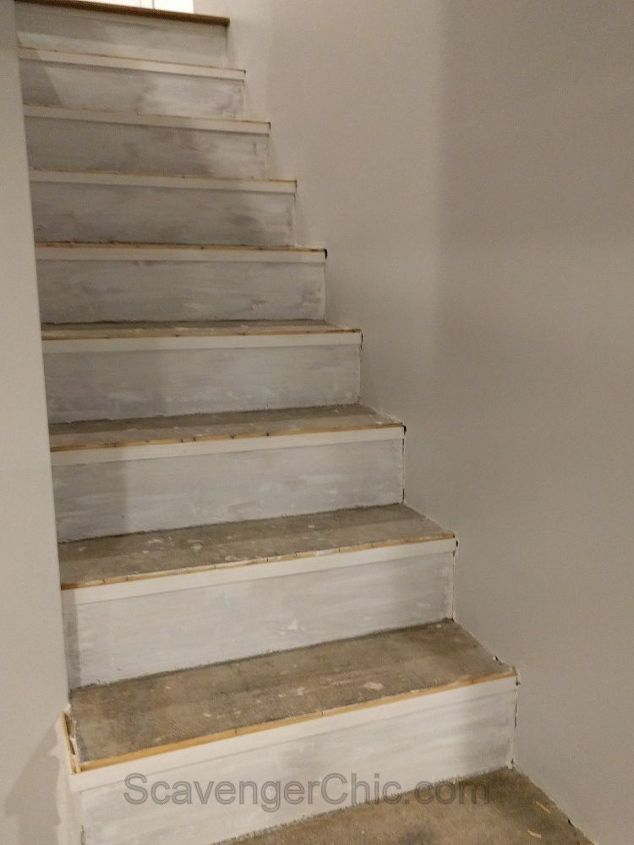 Weekend Project Installing New Stair Treads Stair Treads Diy Staircase Makeover Stairs Covering