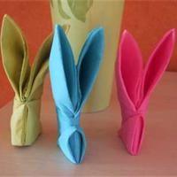 Pliage de serviette Lapin  Pliage de serviette - Loisirs créatifs