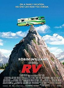"RV (released as Runaway Vacation in some territories) is a 2006 comedy film directed by Barry Sonnenfeld, written by Geoff Rodkey, and starring Robin Williams, Joanna ""JoJo"" Levesque, Cheryl Hines, Josh Hutcherson, Jeff Daniels, Kristin Chenoweth and Will Arnett. It was released on April 28, 2006 in North America."