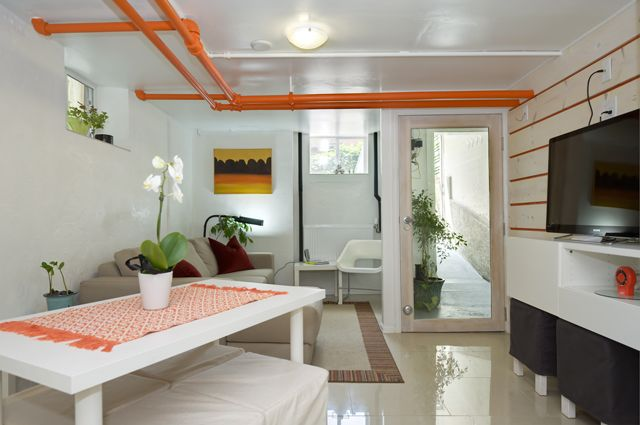 Refreshing Way To Handle A Basement Apartment White