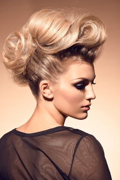 hair look 2: femme mohawk with texture (crimped and spiral) LAST LOOK if crimped.