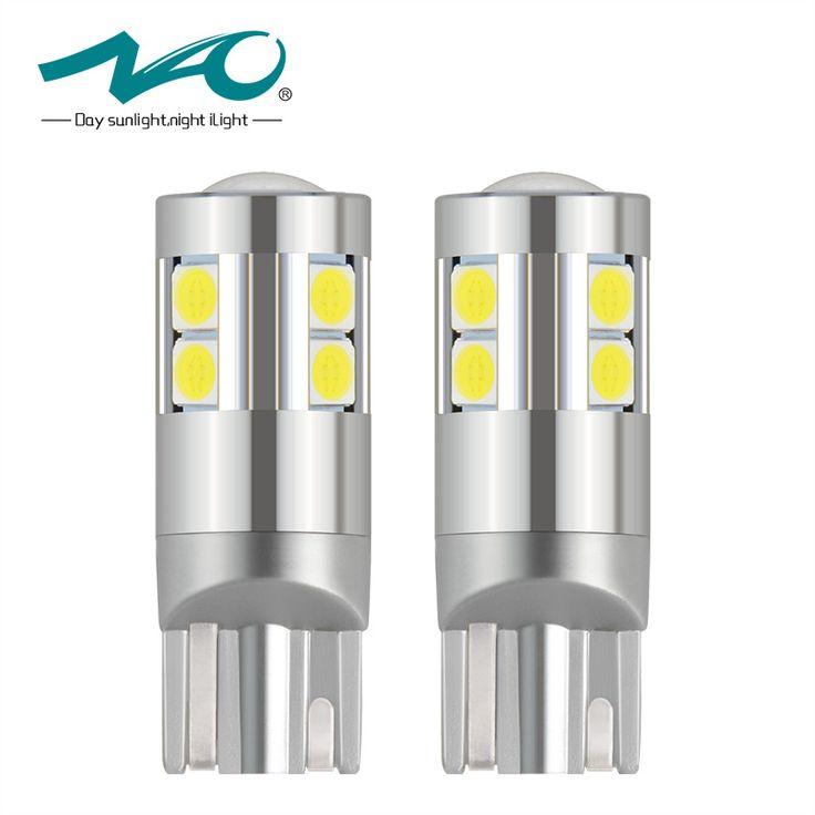 NAO 2x W5W T10 LED Super Lumineux 2.5 W 9 led 3030 SMD 194 168 12 V 6000 K Blanc Liquidation Lumières lampe de Lecture De Voiture éclairage