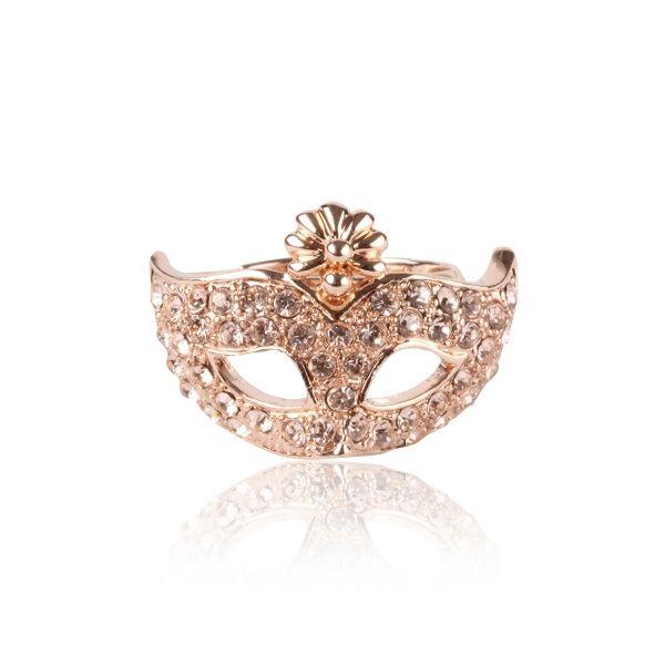 Taşlı Venedik Mask Yüzük #yuzuk #maske #venedikmaske #moda #aksesuar #takı #kadın #fashion #ring #mask #trend #stylish #elegant #woman #accesories
