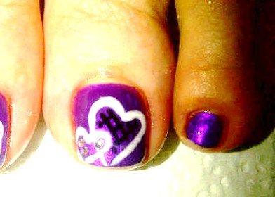 Toe Art... Nail Polish & Gel Polish combination. :)