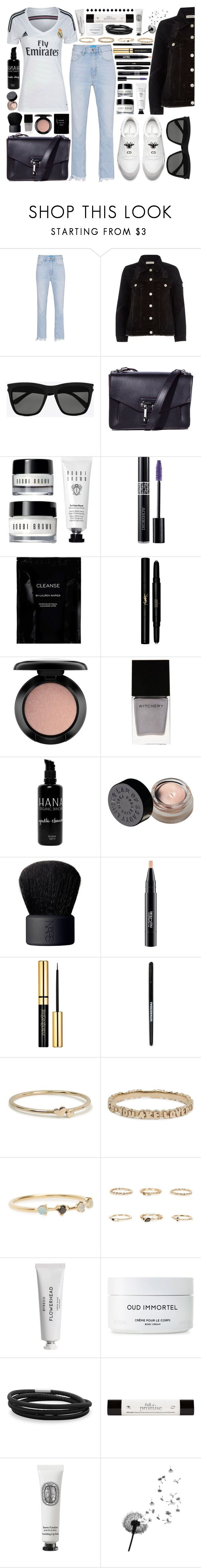 """""""Tonight's game"""" by carolsposito ❤ liked on Polyvore featuring M.i.h Jeans, River Island, Yves Saint Laurent, Proenza Schouler, Christian Dior, Cleanse by Lauren Napier, MAC Cosmetics, Witchery, SkinCare and NARS Cosmetics"""