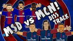 🎤MSD vs MCN - DISS TRACK🎤 [Barcelona vs Juventus 3-0, Celtic vs PSG 0-5 ...