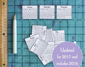 169 best calendars diy images on pinterest calendar ideas items similar to printable 2013 mini calendar pdf digital file do it yourself make your own calendars or use in your smash book album on etsy solutioingenieria Image collections
