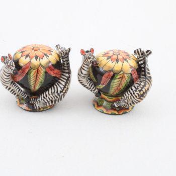 Ardmore Ceramics Zebra Salt & Pepper
