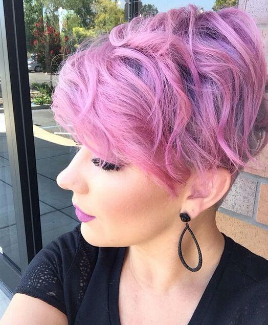 стрижка пикси на волнистые волосы