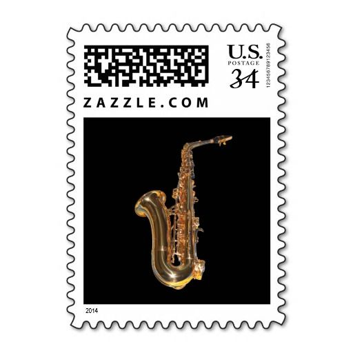 Saxophone Postage Stamp
