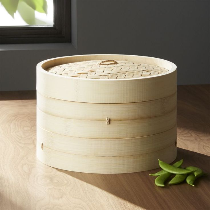 Shop Bamboo Steamer.  Essential for Asian cooking, this two-tiered bamboo steamer can steam for any cuisine.   Designed for use inside a wok or over a stockpot, it's ideal for cooking vegetables, dumplings, fish and steamed puddings.