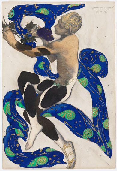 Leon Bakst's costume design for Nikinsky in The Afternoon of the Faun