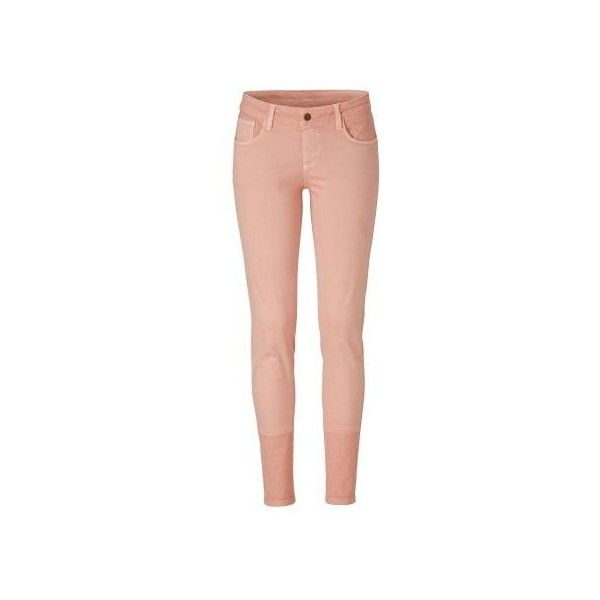 Jeans, Steppdetails, Röhre (960 DKK) ❤ liked on Polyvore featuring jeans and red jeans