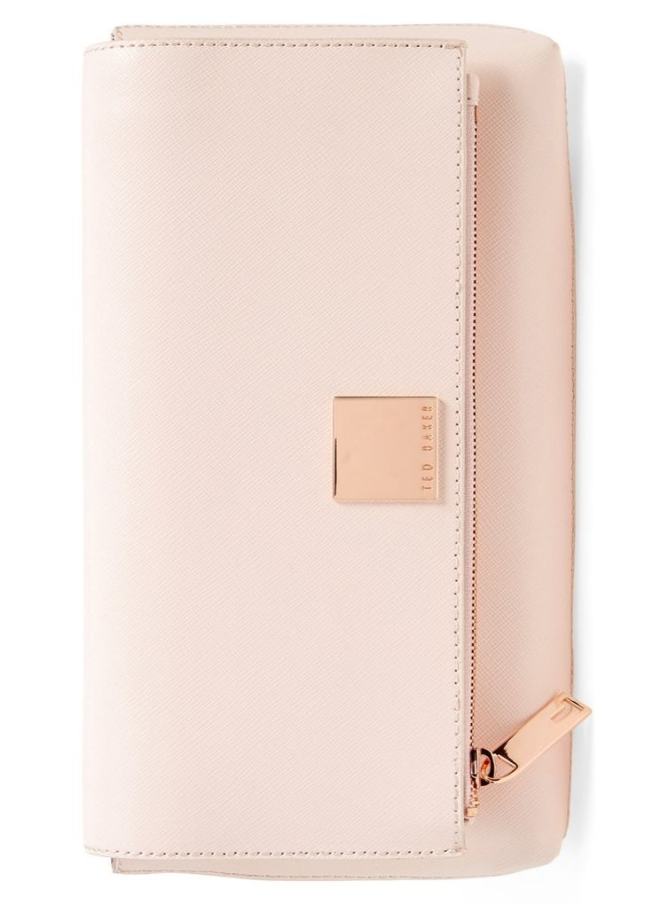 How pretty is this blush-hued Ted Baker clutch?