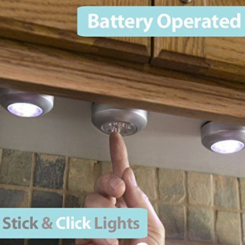 LED Under Cabinet Kitchen Counter Led Closet Puck Wireless Led Lights 6 pack #PIXNOR