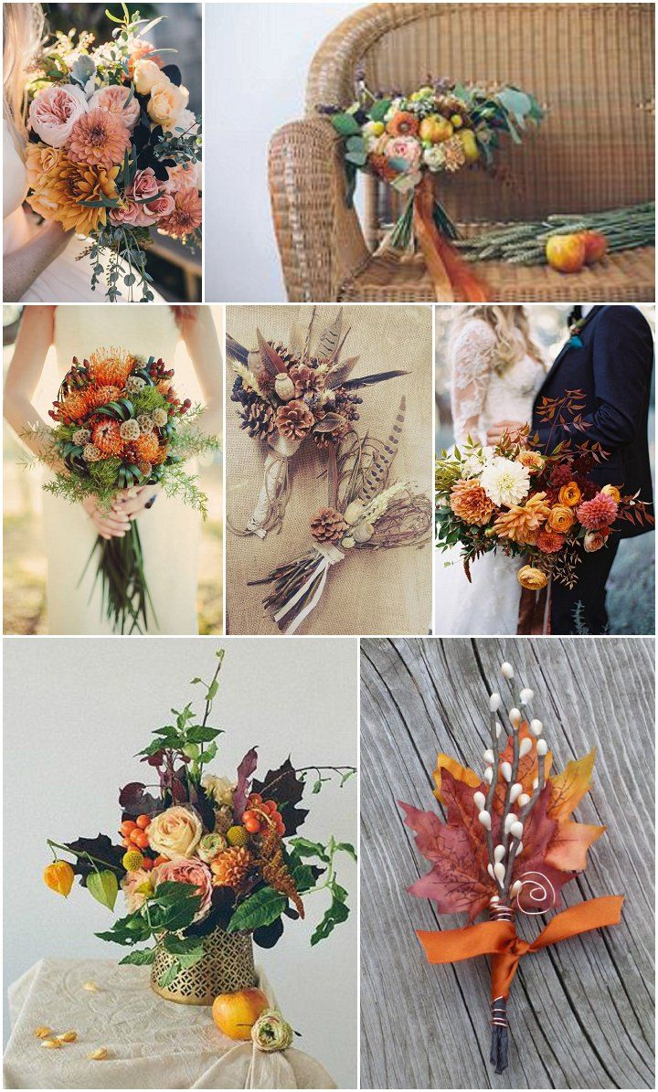 Ideas and Inspiration for your Autumn Wedding - flowers    Bottom right!!!