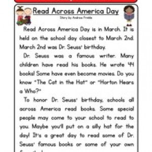 holiday stories comprehension read across america day