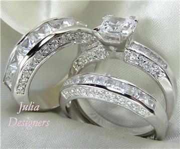 His U0026 Her Matching 3pcs Engagement Wedding Ring Set (unique Wedding Rings)