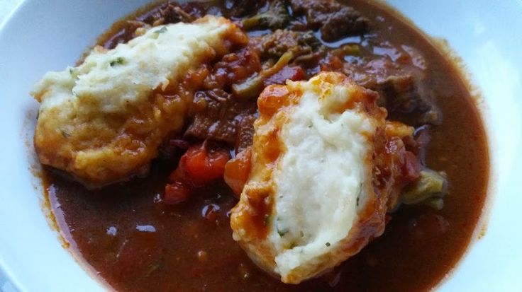 Chilli Beef & Dumplings from Diet of Plenty (can make a vegetarian version - details in post)