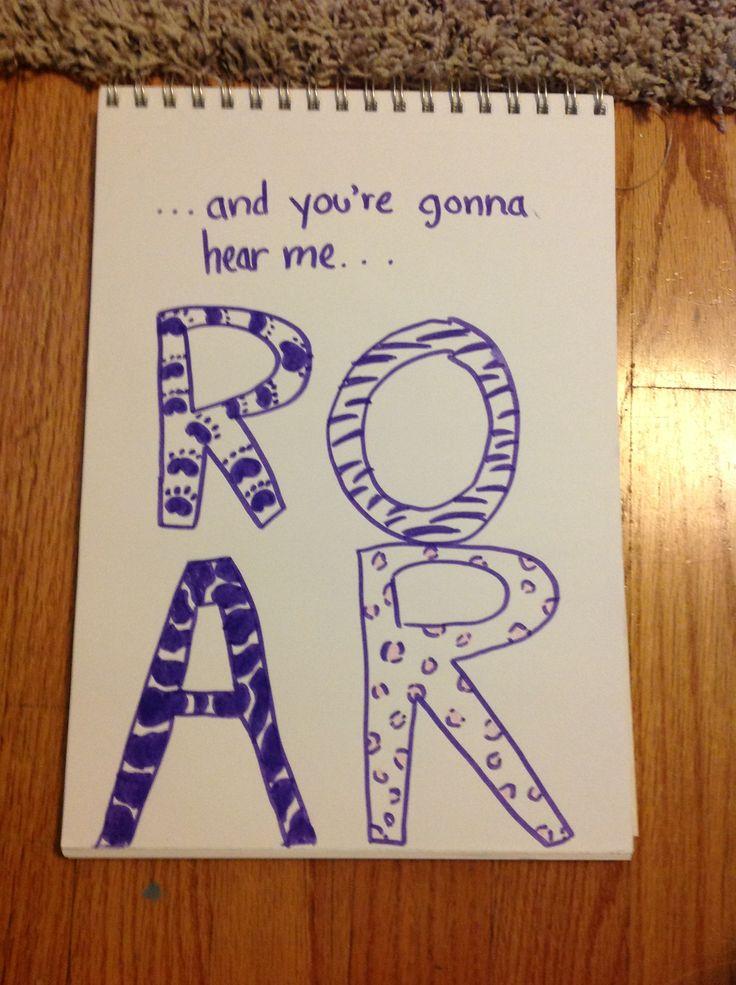 Katy Perry Roar song lyric doodle