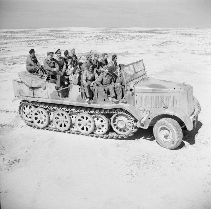 wehrmachtinternetmuseum: German Sdkfz8 in North Africa in British hands. Great selection lads.