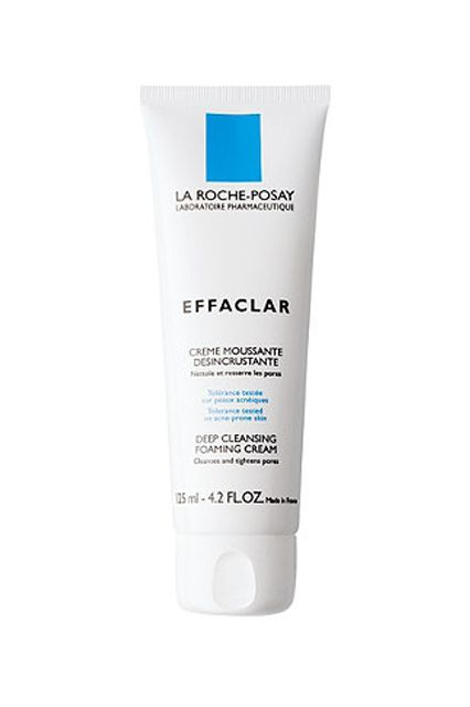 it's hard to find one product that works to clear my face without over drying or irritating my skin. This cleanser does all of that while leaving my face smooth and refreshed.  La Roche Posay Effaclar Deep Cleansing Foaming Cream, $22.99, available at Ulta.