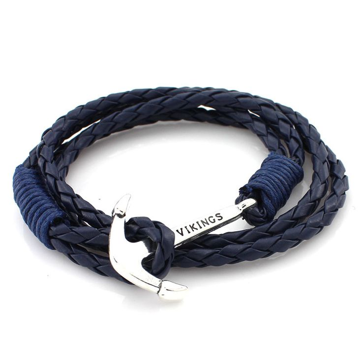 2016 Multi-layers Retro Vikings Bracelets Fashion Jewelry Leather Bracelet Men Anchor Bracelets for Women Gift Silver Plated