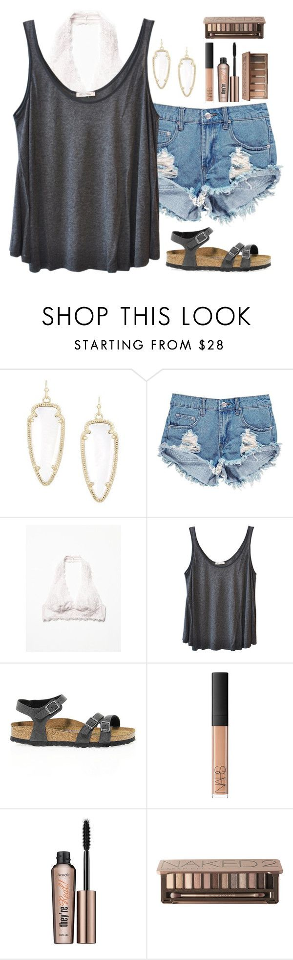 """My taglist Please join (cmt) it looks pretty lonely"" by texas-preppy ❤ liked on Polyvore featuring Kendra Scott, Boohoo, Free People, American Vintage, Birkenstock, NARS Cosmetics, Benefit, Urban Decay, women's clothing and women"