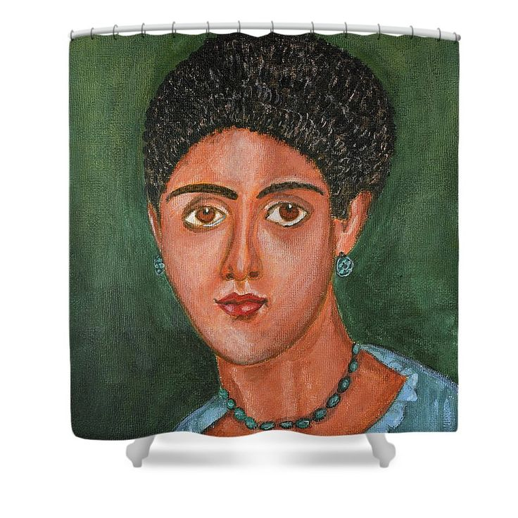 Portrait Shower Curtain featuring the painting Princess Portrait by Grigorios Moraitis