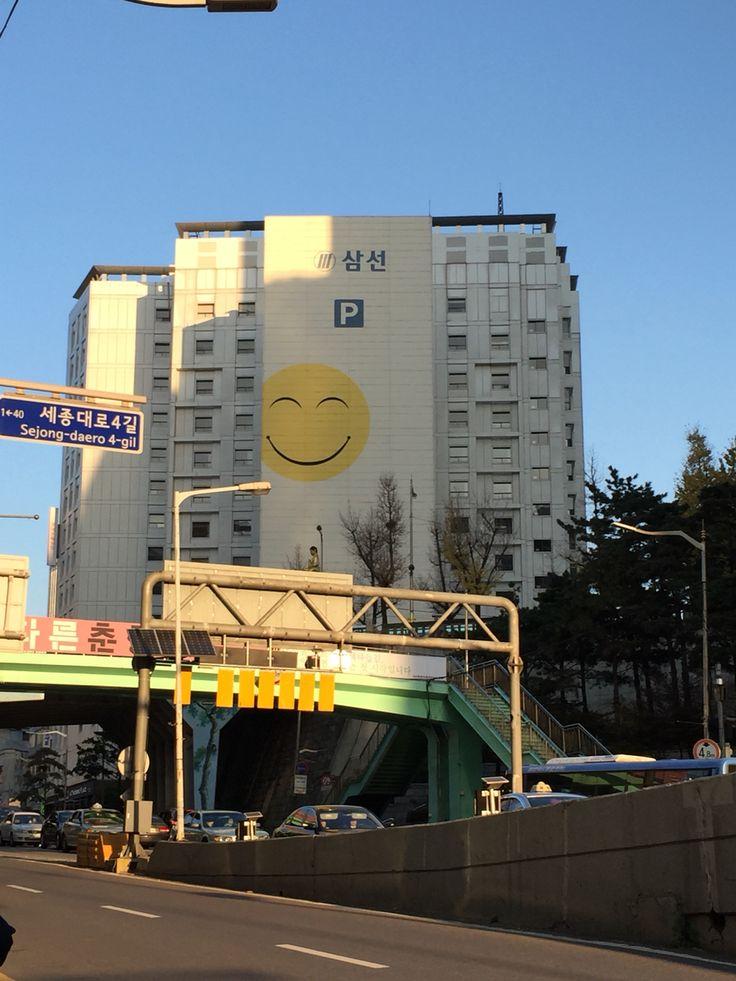 Happy parking garage in Seoul, South Korea.