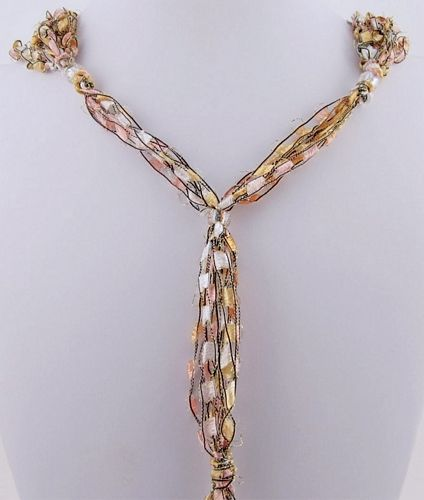Adjustable Ladder Ribbon Necklace  (Aunt Jan was making these & they looked cute & easy to make!)