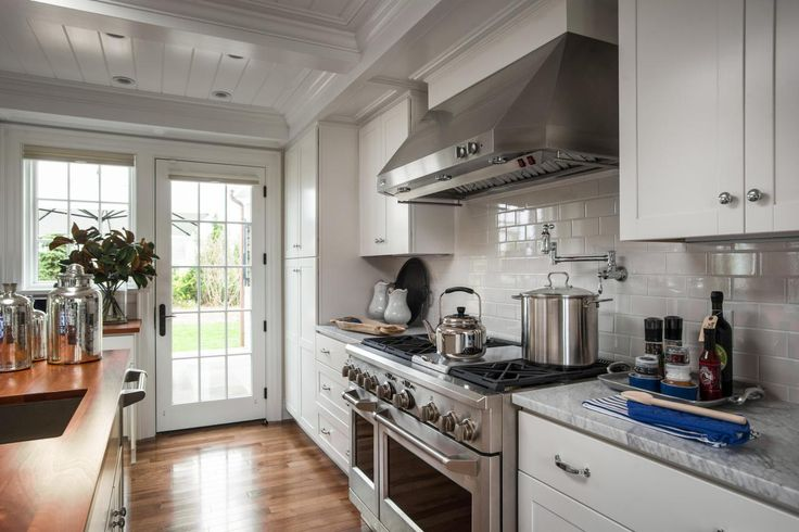 I  think I like this stove. Would love to have a pot filler over the stove.  || HGTV Dream Home 2015: Kitchen Pictures | HGTV Dream Home | HGTV