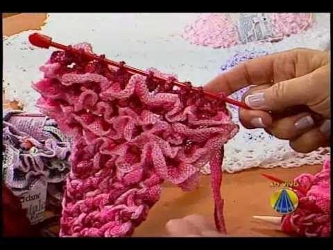 Gola em tricô - fio Geniale Pop ou Mel - Vitória Quintal | Sabor de Vida - 17 de Agosto de 2012 - YouTube