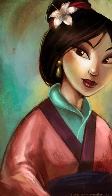"hua mulan by wendichen on deviantART...   ""this was one of the first tests I did in Painter.... since then I've fallen HARD for that program~corel painter x / wacom tablet"""