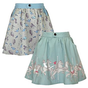 Reversible Carousel Skirt. This is also really cute but would've been nice to see some poofiness at the bottom!